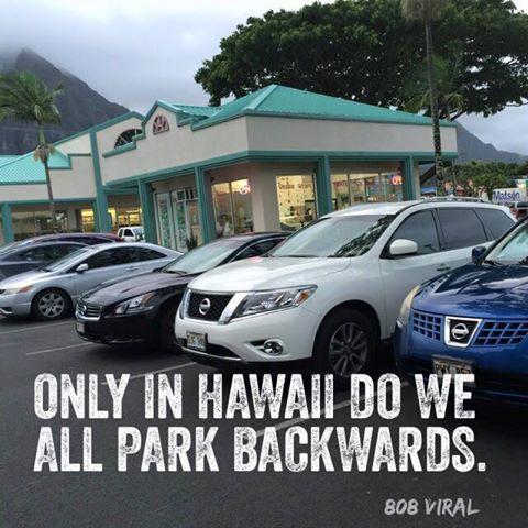 parking backwards in hawaii